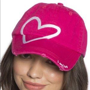 Peace Love World Baseball cap! Hot pink love